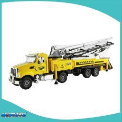 Kdw 다이캐스트 1:55 콘크리트 펌프 트럭 다이캐스트 카 모델 카(전학 교육
