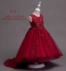 جدية ثوب بنت عرس ثوب خمر أحمر [هندمد] ينظم عرس ثوب شريط تطريز أميرة [كلوثينغ] [أبّرل] [غرمنت] [ببي] ثوب لأنّ [ودّي] ملابس