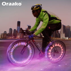 Oplaadbare sensor waterdichte IPX5 LED-fietslamp met wielsensor, met spaken Verlichting van de hete wiellichten
