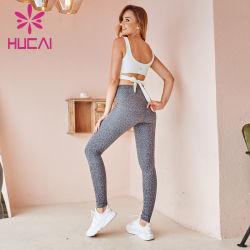 Vendita all'ingrosso Donna Bra e leopardo leggings tuta moda Activewear Custom Abbigliamento da palestra per allenamento sportivo Yoga di alta qualità