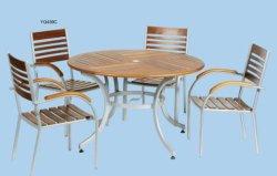 Meubles en bois - chaise en bois ont de la poignée bois+ Table en bois avec parapluie Holl
