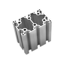 Anodizado plata 6063 T5 V-Extrusión de perfil ranurado Hot-Extrusion Molde de Aluminio escalera de aluminio para sistema de entramado de ranurado de T