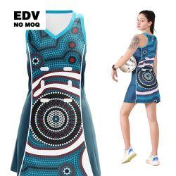 중국 공장 도매 고품질 승화 팀 네트볼 웨어 드레스