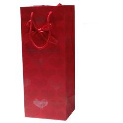 Imballaggio sottile reso personale del vino di acquisto del sacchetto della maniglia