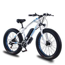"""2021 أفضل صرّاف 26 """"36 فولت 350 واط/500 واط الإطار العريض عالي دراجة كهربائية الجبل من الكربون الصلب"""