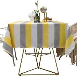 Rechthoekige verfrissende gele gestreepte tafelkleed