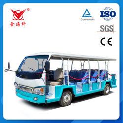 CE معتمدة 23 مقعد أتوبيس تنقل مشاهدة المعالم كهربائيًا لـ استخدام مدرسة مطار منتجع المناطق السياحية
