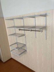 Sistema astuto dell'armadio del guardaroba dei kit dell'organizzatore dell'armadio della scaffalatura del nastro metallico