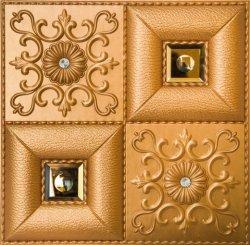 3D decorativa impermeable de cuero de PU Panel de pared suave material de decoración