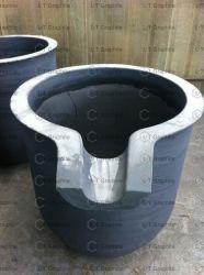 Sic creuset de graphite avec Nozzel utilisé pour la fusion de l'aluminium, fer, acier, Silver, Gold