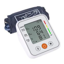Monitor de Pressão Arterial esfigmomanômetro automático transmissão de voz em Inglês Tonômetro Bp monitores de frequência cardíaca