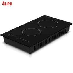 3000W 120V intégrée à la verticale domino 2 brûleur plaque de cuisson Table de cuisson à induction