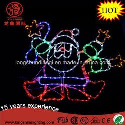 LED 90см силуэт танцы Санта веревки светодиодный индикатор Рождества