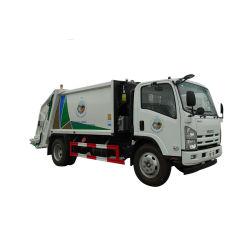 Motor Isuzu 190HP 8cbm resíduos de carga traseira do compactador de coleta de lixo caminhão de lixo