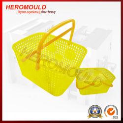 Heromold의 핸들 몰드가 있는 플라스틱 사각 가정용 바구니