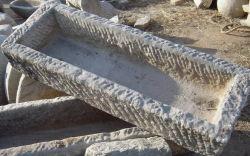 أثر قديم صوّان مستطيلة حوض حجارة ([ش397])