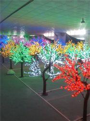 Luz de árvore de fruto de plástico paisagem de Flores Decoração de férias de iluminação de Árvore