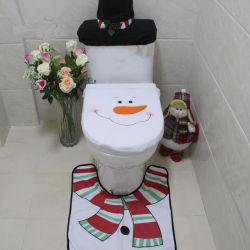 Santa Claus lavabo tapete de banho de assento Definir Decorações de Natal do Ano Novo dons