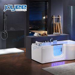 Walk-in Jacuzzi-Badewanne mit Dusche-Bildschirm-Handdusche-Messinghahn