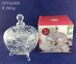 Design em cristal de vidro transparente tigelas de açúcar pratos doces decorativas