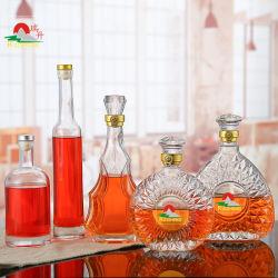 Bottiglia di vetro incisa abitudine di alcoolici di Xo di marca dell'alcool della vodka di cristallo vuota del whisky 750ml per liquore