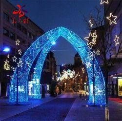 Het openlucht Waterdichte Aangestoken Licht van Kerstmis van de Boog van het Motief van de Kabel van de Boog van de Straat van het Huwelijk van het Festival van de Vakantie van Kerstmis Decoratieve 3D