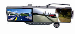 """5"""" HD с сенсорным экраном системы навигации GPS зеркало заднего вида записывающее устройство Bluetooth с 720p Car Recorder 2PS 4 ГБ TF"""