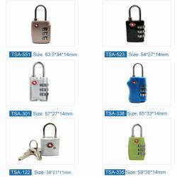 3 다이얼 숫자 Tsa 재시동할 수 있는 패스워드 소형 여행 가방과 수화물 금속 부호 결합 자물쇠 통제 패드 자물쇠
