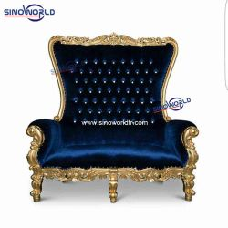 Sinoworldの家具のThrone Chair新郎新婦結婚式のための二重王愛シート