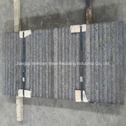 HRC 58-62 중국 단단한 향함 석탄 자동활송장치 강선을%s 거친 저항하는 두금속 클래딩 착용 격판덮개