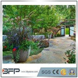 Courbe de pierre blanche pot de fleur de pot de décoration de jardin