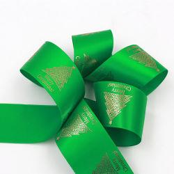 Schittert de Metaal Gouden Afgedrukte Folie van de polyester Katoenen Lint