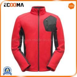 Les ventes à chaud de couleur rouge des hommes Vêtements tricotés en molleton Veste décontractée