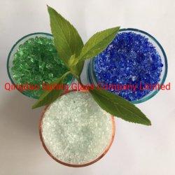 Clair de haute qualité en verre recouvert de copeaux recyclés écrasé granule de béton de plancher de décoration et de filtration de l'eau