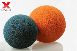 Barato preço do tubo da bomba de betão seco fora da esfera de esponja de Borracha