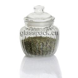 De uitstekende Duidelijke Kruik van de Apotheker van het Glas met Dekking