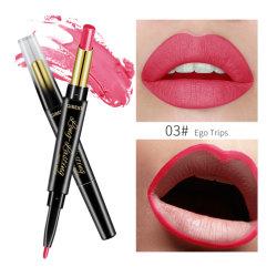 1개의 두 배 헤드 메이크업 립스틱 펜 + 입술 강선에 대하여 2