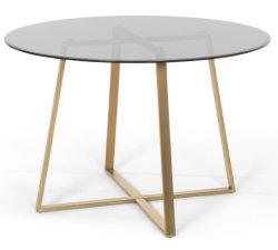 Plat/refoulées Round Table Cocktail de café en verre trempé