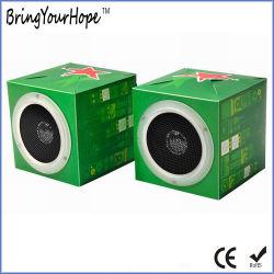 OEM personnalisé impression Papier Recyclé écologique pliable Mini haut-parleurs (XH-PS-023)