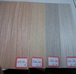 Couper en tranches d'ingénierie en bois de placage de chêne de recon