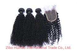 Естественный цвет Kinky завивки волос продукты Virgin природных волос