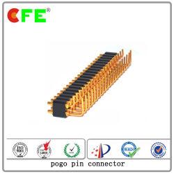 Conetor de Pin de Pogo do carregador do sinal da transmissão do ângulo 90 direito