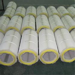 Cartucho de filtro de aire cilíndrico de colector de polvo