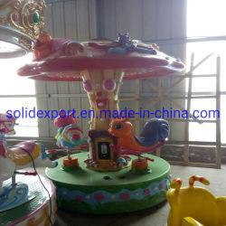 遊園地の子供のための小型美しい電気おもちゃのメリーゴーランドのおもちゃ