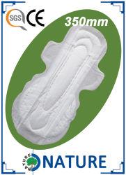 350мм хлопка аниона женских гигиенических салфеток