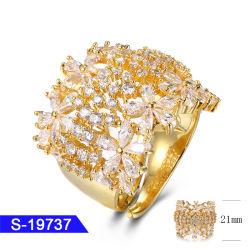 女性のための卸し売り新しいデザイン方法宝石類925の純銀製のダイヤモンドの結婚指輪