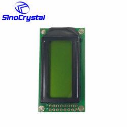 8X2 특성 LCD 황록색 LED 역광선 0802 전시 모듈