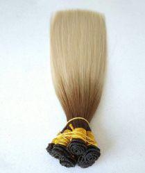 Cheveux humains vierges brésilien non transformés de main liée dans la trame d'extension