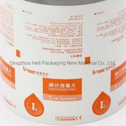 Contrecollage Aluminium Papier pour lingettes humides Sachets de contrecollage