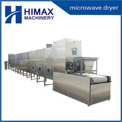 Los alimentos industriales Bverage Microondas Horno Túnel de la deshidratación de la máquina de la correa de pelo